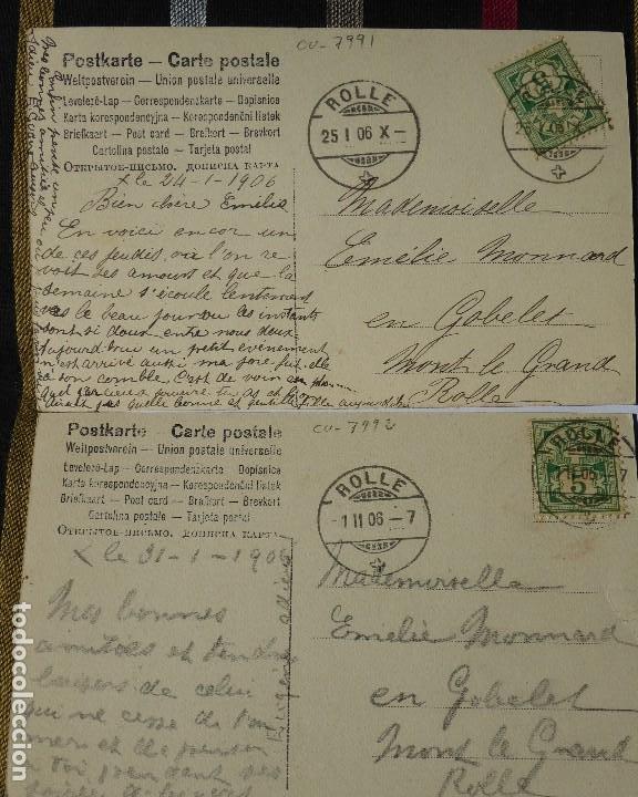 Postales: P-10031. UNA PARTIDA DE CARTAS COMO EXCUSA. 6 POSTALES. COLOREADAS. CIRCULADAS. AÑO 1906 - Foto 8 - 193764312