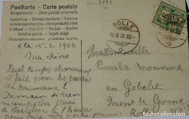 Postales: P-10031. UNA PARTIDA DE CARTAS COMO EXCUSA. 6 POSTALES. COLOREADAS. CIRCULADAS. AÑO 1906 - Foto 9 - 193764312