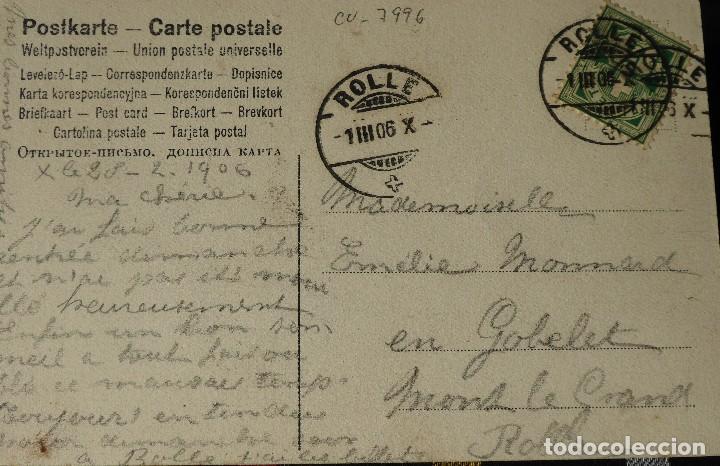 Postales: P-10031. UNA PARTIDA DE CARTAS COMO EXCUSA. 6 POSTALES. COLOREADAS. CIRCULADAS. AÑO 1906 - Foto 11 - 193764312