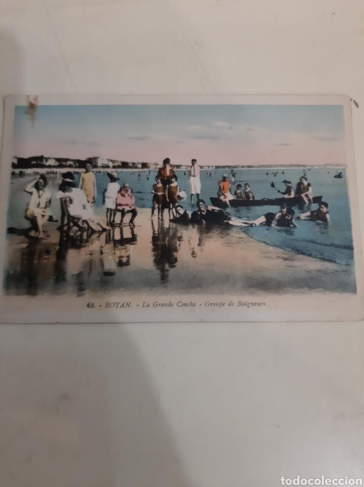 ROYAN FRANCIA PLAYA PERSONAS 1930 (Postales - Postales Temáticas - Galantes y Mujeres)
