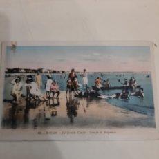 Postales: ROYAN FRANCIA PLAYA PERSONAS 1930. Lote 194195305