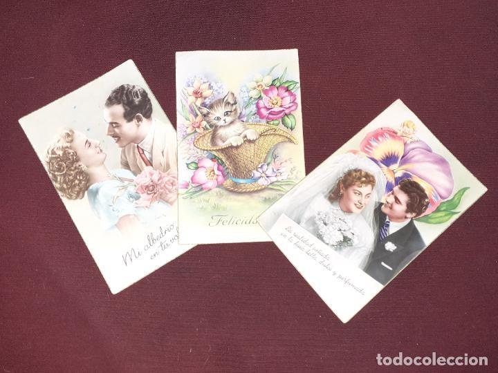 3 POSTALES GALANTES (Postales - Postales Temáticas - Galantes y Mujeres)