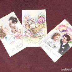 Postales: 3 POSTALES GALANTES. Lote 194226396