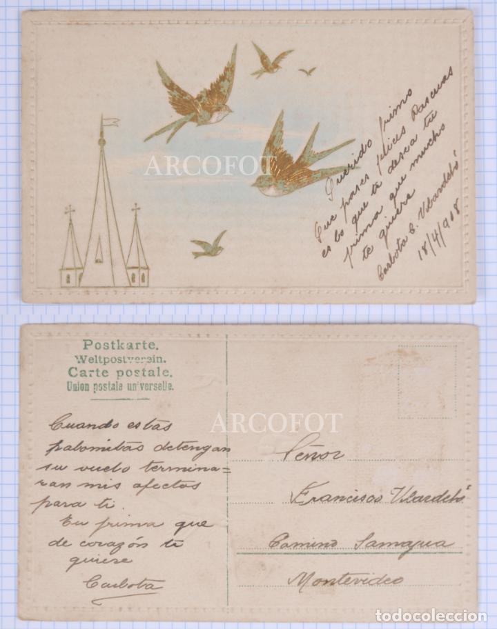 POSTAL FECHADA 1908 - LA DE LA FOTO (Postales - Postales Temáticas - Galantes y Mujeres)