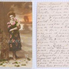 Postales: POSTAL ILUMINADA FECHADA EN 1923 - LA DE LA FOTO. Lote 194585325