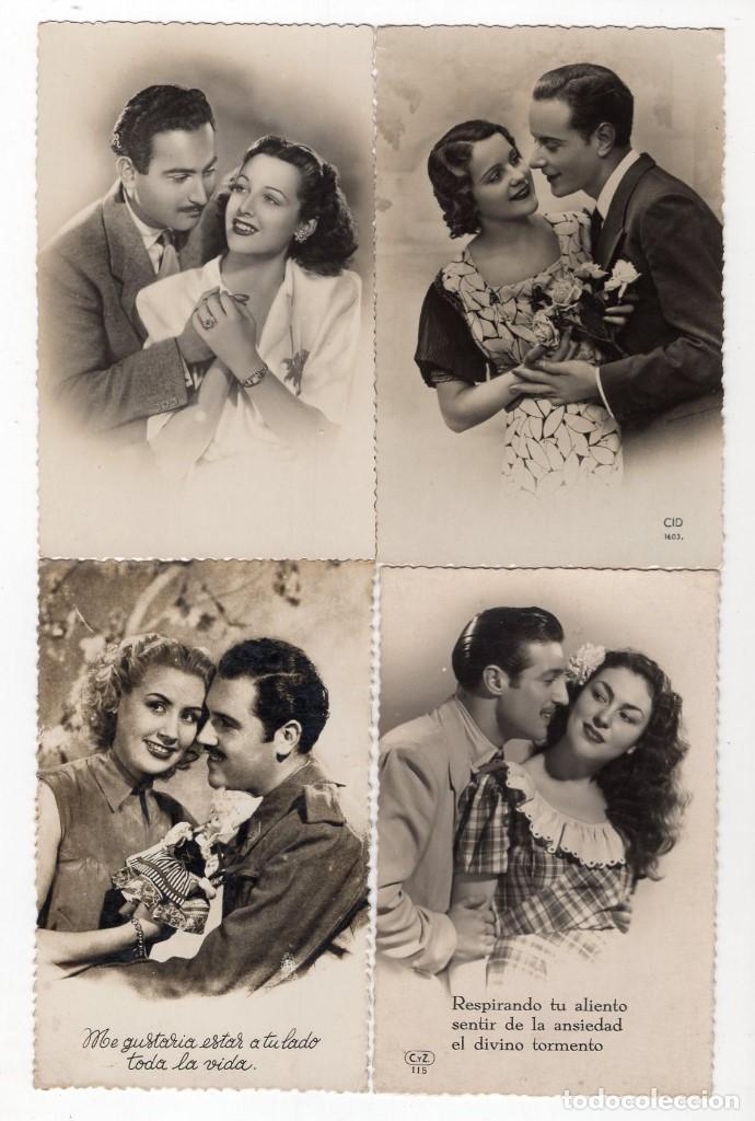 Postales: Parejas de enamorados. Gran lote de 80 postales - Foto 2 - 194678165