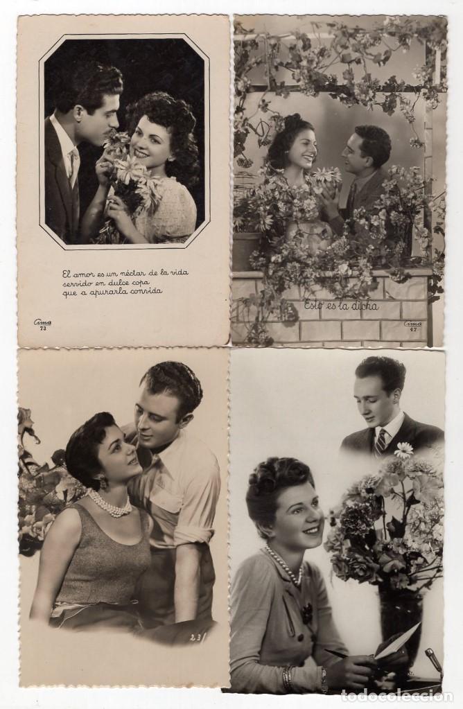 Postales: Parejas de enamorados. Gran lote de 80 postales - Foto 3 - 194678165