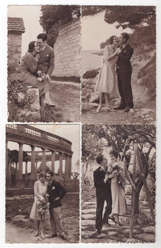 Postales: Parejas de enamorados. Gran lote de 80 postales - Foto 7 - 194678165