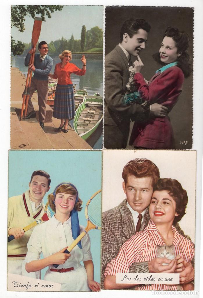 Postales: Parejas de enamorados. Gran lote de 80 postales - Foto 9 - 194678165