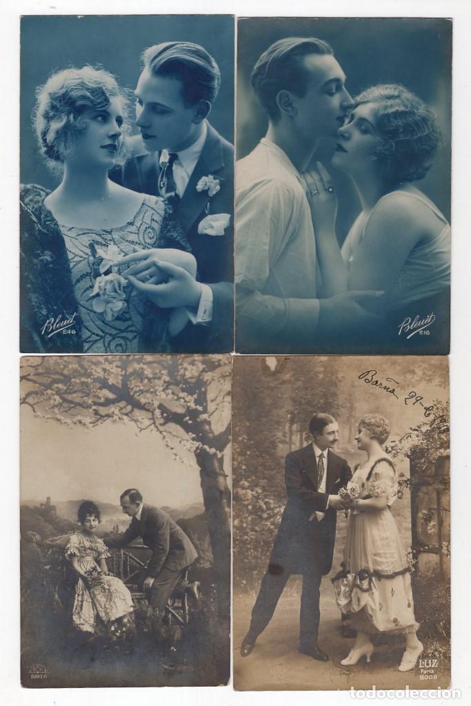 Postales: Parejas de enamorados. Gran lote de 80 postales - Foto 11 - 194678165