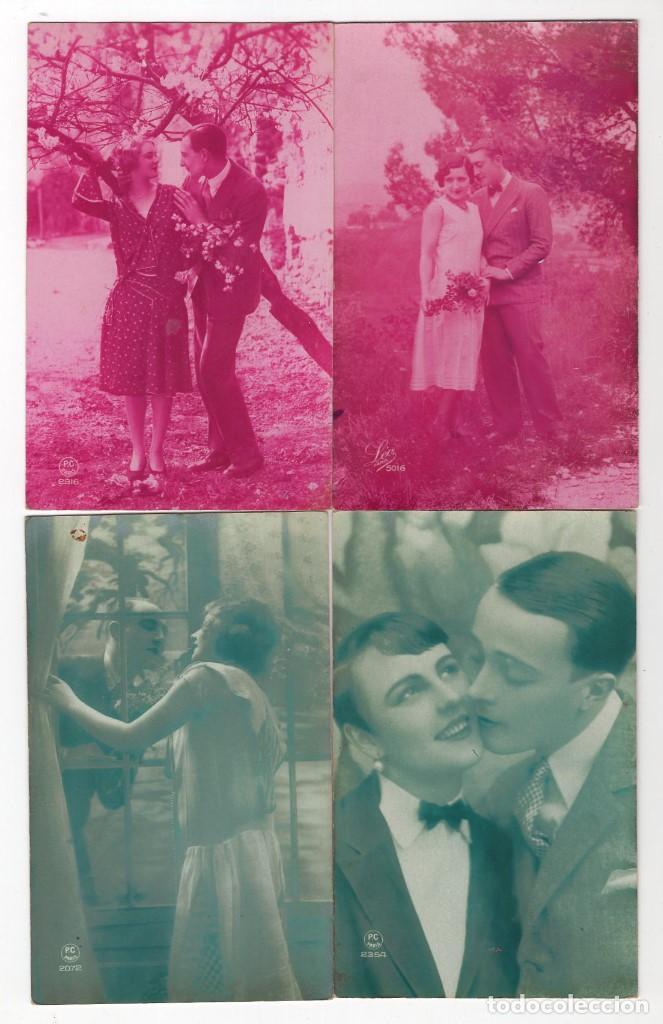 Postales: Parejas de enamorados. Gran lote de 80 postales - Foto 12 - 194678165