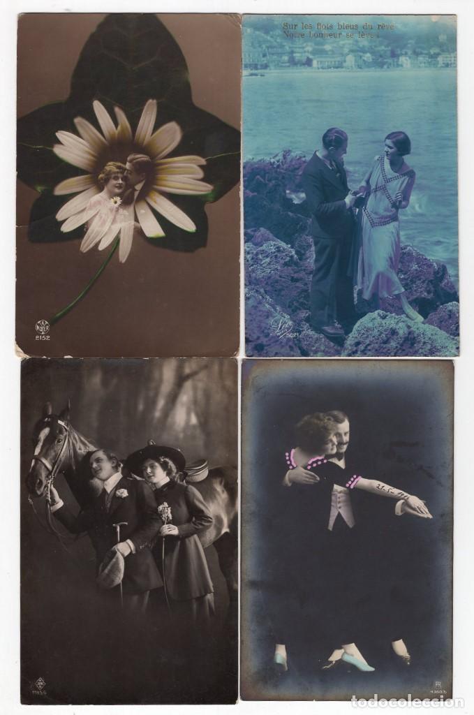 Postales: Parejas de enamorados. Gran lote de 80 postales - Foto 13 - 194678165