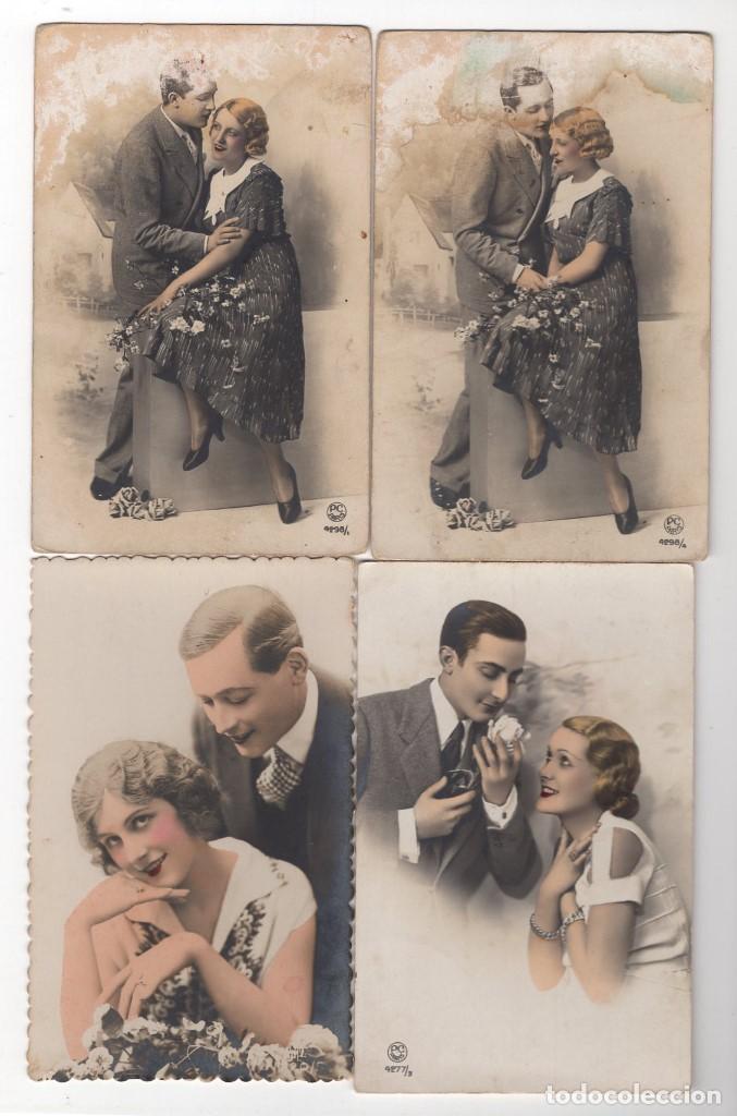 Postales: Parejas de enamorados. Gran lote de 80 postales - Foto 14 - 194678165