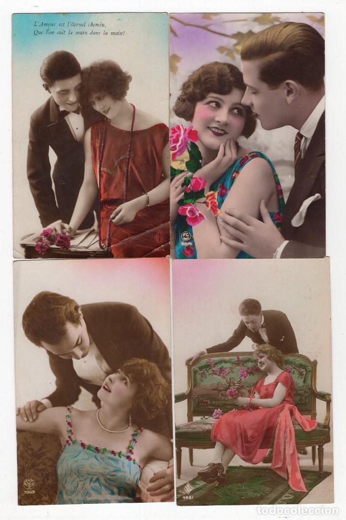 Postales: Parejas de enamorados. Gran lote de 80 postales - Foto 15 - 194678165