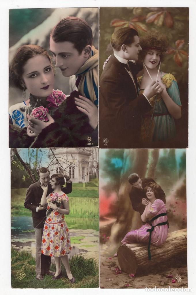 Postales: Parejas de enamorados. Gran lote de 80 postales - Foto 16 - 194678165