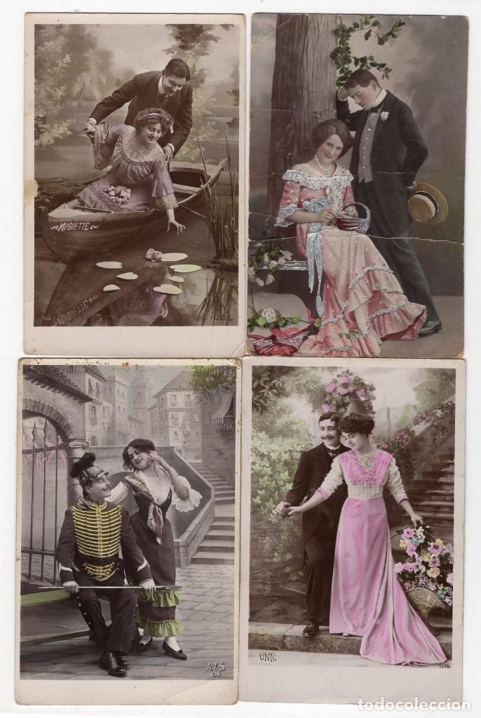 Postales: Parejas de enamorados. Gran lote de 80 postales - Foto 17 - 194678165