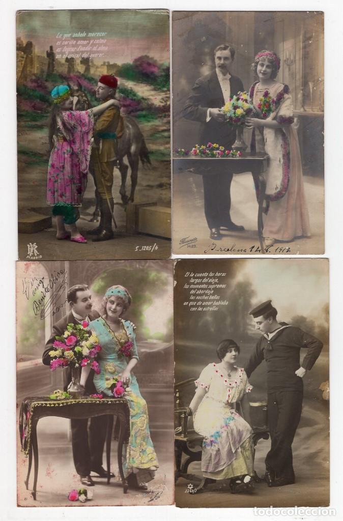 Postales: Parejas de enamorados. Gran lote de 80 postales - Foto 18 - 194678165