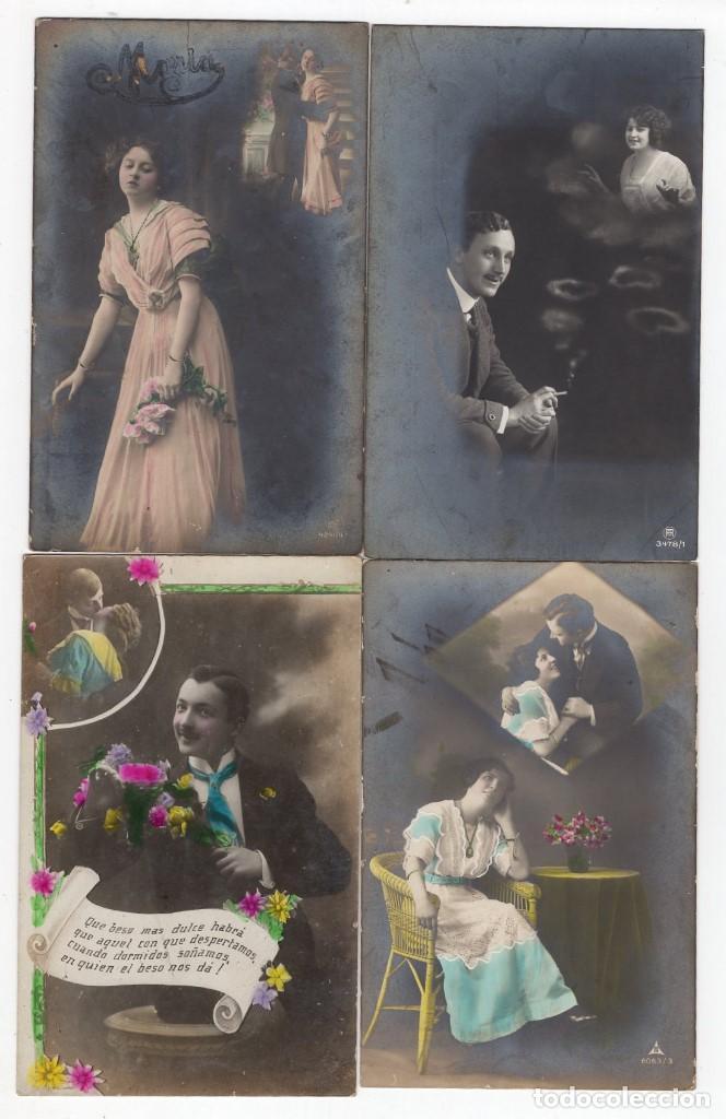 Postales: Parejas de enamorados. Gran lote de 80 postales - Foto 19 - 194678165