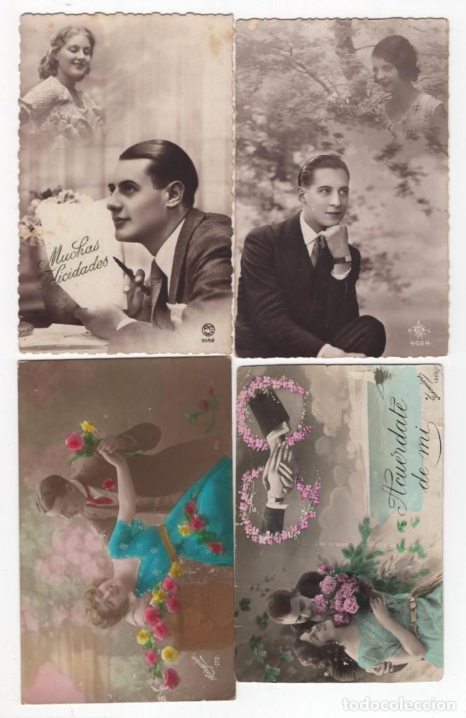 Postales: Parejas de enamorados. Gran lote de 80 postales - Foto 20 - 194678165
