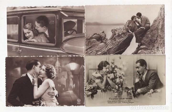 Postales: Parejas de enamorados. Gran lote de 80 postales - Foto 21 - 194678165