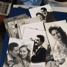 Postales: LOTE 12 POSTALES TROQUELADAS BLANCO Y NEGRO TIPO FOTOGRAFIA AÑOS 50. Lote 194726066