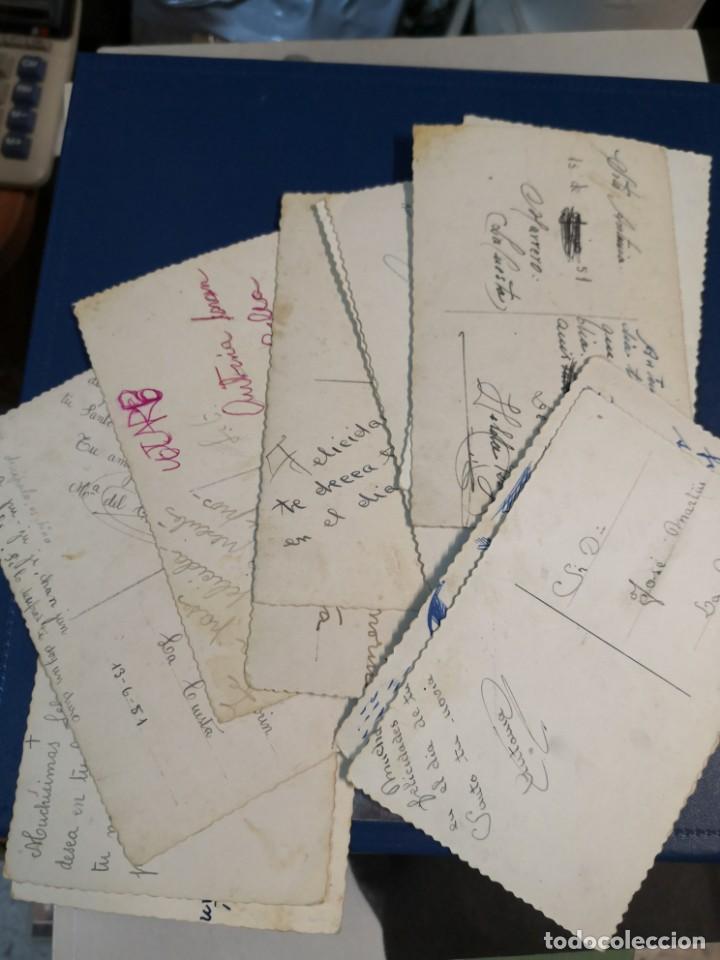 Postales: Lote 12 postales troqueladas blanco y negro tipo fotografia años 50 - Foto 4 - 194726066