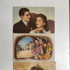 Postales: TRES POSTALES ROMÁNTICAS. H. 1950?.. Lote 194966433