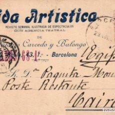 Postales: REVISTA VIDA ARTÍSTICA. DIRIGIDA A LA CUPLETISTA PAQUITA MONTES 1901. Lote 195066803