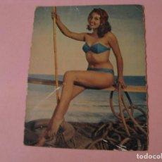 Postales: POSTAL CHICA, PLAYA, BAÑADOR. MEXICHROME. M. D. PARIS. ALGUN DEFECTO.. Lote 195131378