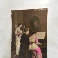 Postales: POSTAL ROMÁNTICA. LA CLASE DE MÚSICA. YRISA. H. 1925?.. Lote 195184382