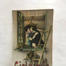 Postales: POSTAL ROMÁNTICA. PAREJA DE ENAMORADOS. MADE IN GERMANY. H. 1935?.. Lote 195184575