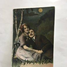 Postales: POSTAL ROMÁNTICA. ENAMORADOS BAJO LA LUNA. H. 1930?.. Lote 195184755