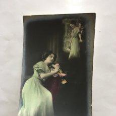 Postales: POSTAL ROMÁNTICA. PENSANDO EN TI. H. 1920?.. Lote 195200895