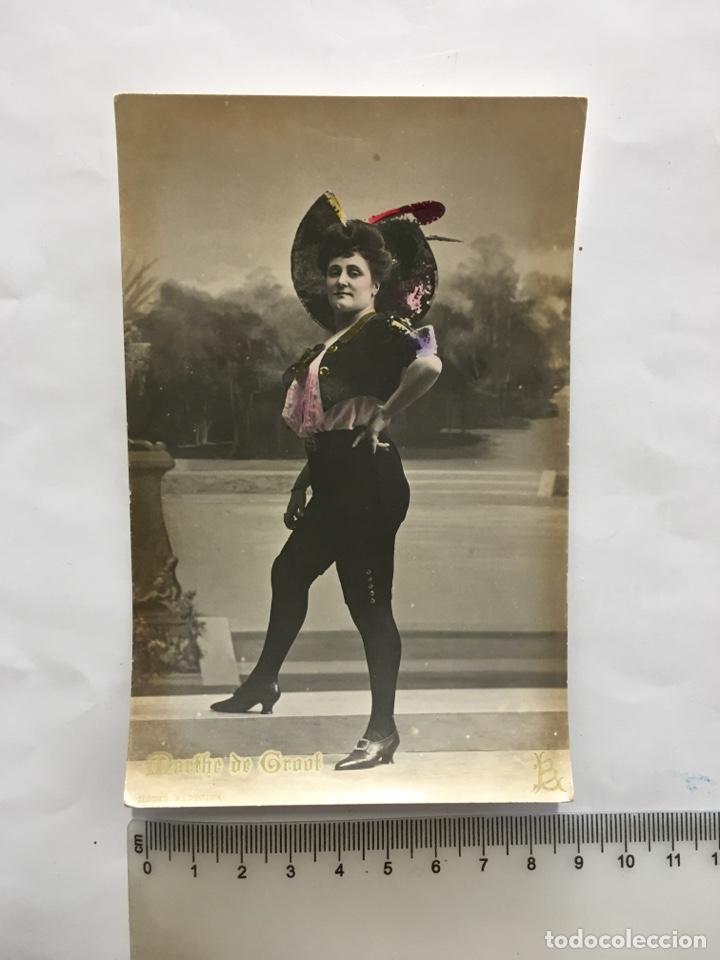 POSTAL ROMÁNTICA. MANTHE DE GROOF?. ACTRIZ Y CUPLETISTA. H. 1910?. (Postales - Postales Temáticas - Galantes y Mujeres)