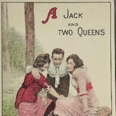 Postales: P-10070. A JACK AND TWO QUEENS. POSTAL AMERICANA AÑOS 20. SIN CIRCULAR.. Lote 195215435