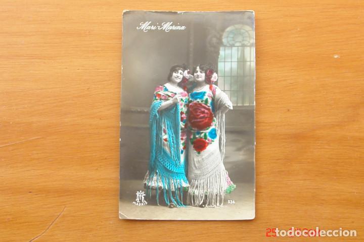 POSTAL ANTIGUA MUJERES GALANTES -CANTANTES Y ACTRISES -MARI MARINA (Postales - Postales Temáticas - Galantes y Mujeres)