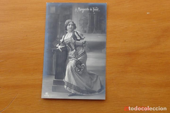 POSTAL ANTIGUA MUJERES GALANTES -CANTANTES Y ACTRISES - MARQUERITE DE FAUST (Postales - Postales Temáticas - Galantes y Mujeres)