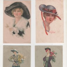 Postales: 4 POSTALES ORIGINALES ANTIGUAS 1900 1919. Lote 195364236