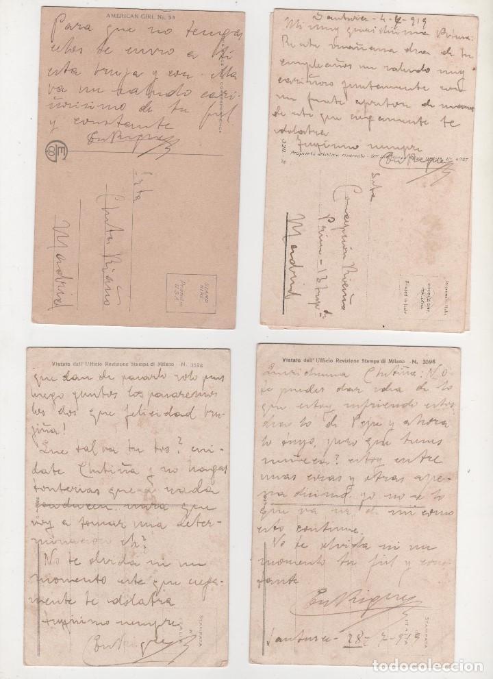 Postales: 4 POSTALES ORIGINALES ANTIGUAS 1900 1919 - Foto 2 - 195364236