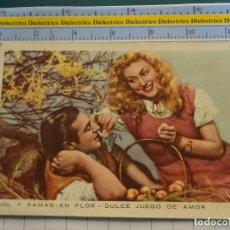 Postales: POSTAL DE MUJERES Y GALANTES. AÑO 1952. ENAMORADOS SOL Y RAMAS EN FLOR . 146. Lote 195481800