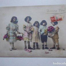 Postales: TARJETA POSTAL BONNE FETE, NIÑOS,. Lote 196327226