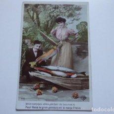 Postales: POSTAL ROMANTICA ESCRITA,. Lote 196327323