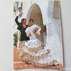 Postales: POSTAL FOTOGRAFICA PAREJA DE FLAMENCOS, TRAJE DE TELA Y CUERPO BORDADO. COMERCIAL BOHIGAS. Lote 196886220