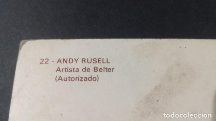 Postales: 22 ANDY RUSELL - ARTISTA DE BELTER - AUTORIZADOFAMOSOS ACTORES CANTANTESCP-A29 - Foto 2 - 197153833