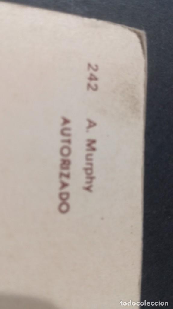 Postales: 242 A MURPHYFAMOSOS ACTORES CANTANTESCP-A29 - Foto 2 - 197155598