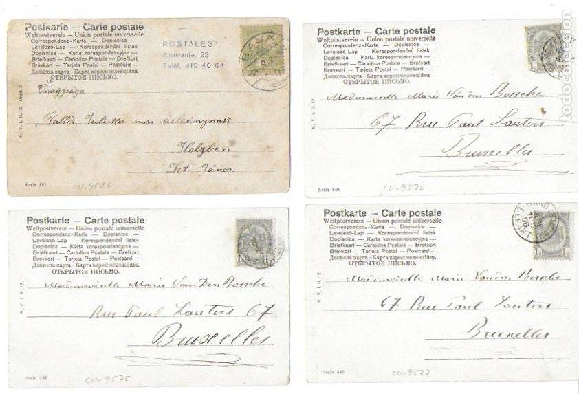 Postales: P-10251. SERIE DE 5 POSTALES FOTOGRAFICAS. PRINCIPIOS S .XX. - Foto 2 - 197707685