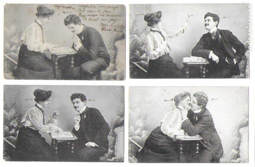 P-10251. SERIE DE 5 POSTALES FOTOGRAFICAS. PRINCIPIOS S .XX. (Postales - Postales Temáticas - Galantes y Mujeres)