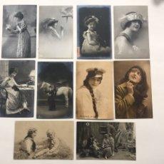 Postales: LOTE 10 POSTALES DE RETRATOS ANTIGUOS. Lote 198895276
