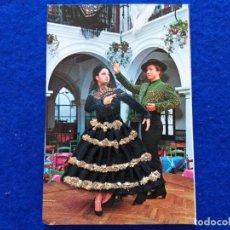 Postales: POSTAL FOTOGRAFICA PAREJA DE FLAMENCOS. TABLAO. TRAJE DE TELA Y ENCAJE. EDICIONES PALMA.. Lote 199180201