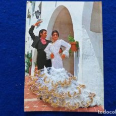 Postales: POSTAL FOTOGRAFICA PAREJA DE FLAMENCOS. TRAJE DE TELA Y ENCAJE. COMERCIAL PRATT.. Lote 199180256